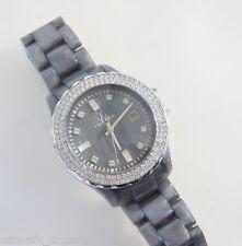 Toy Watch Women's Gray Metallic Plastic Crystal Bezel Watch For Parts