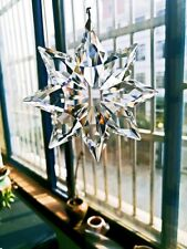 1PCS Clear 76*70mm Suncatcher Crystal Snowflake Wedding Hanging Decor Ornament