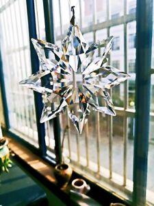 1PCS Clear 76*70mm Suncatcher Crystal Snowflake Wedding Hanging Decor Ornament