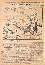 Humour Enfants Kids Canon Gun Game Embusqué Dessin Benjamin Rabier WWI 1916