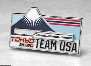 OLYMPIC PINS BADGE 2020 TOKYO 2021 JAPAN TEAM USA NOC MOUNT FUJI MOVING TRAIN SL