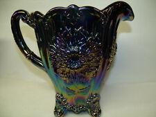 Amethyst carnival Glass water Pitcher dahlia Pattern dugan purple iridescent art
