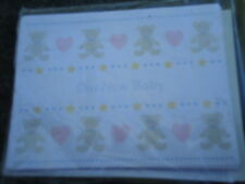 "Creative Papers Our New Baby Announcements Teddy Bears & Hearts 8 Cards 3"" x 5"""