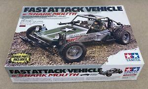 Tamiya Fast Attack Vehicle Shark Mouth From 2012. Rarer Than Vintage FAV! 58539