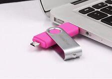 Rosa 8GB USB 2.0 e micro USB Pen Drive Flash Memory Stick Pollice rotante chiave