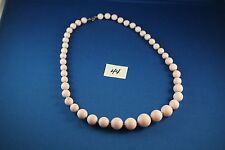 Pink and Gold bead Necklace 24 inches long  (44)