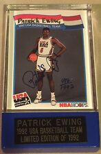 Patrick Ewing USA Basketball DREAM TEAM 1992 NBA Signed Limited Edition Card COA
