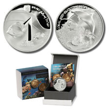 2012 Israel Coral Reef Eilat Prooflike Silver 1 Shekel Coin with Mint Box & COA