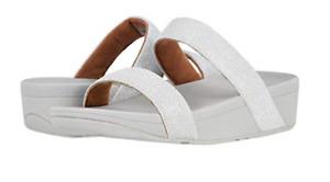 Fitflop Lottie Glitzy Slide Silver Women's sizes 5-11 NEW!!!