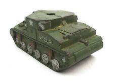 Vintage U.S.A. Green Tank No Turret The Sun Rubber Co 1950's Parts Toy Original