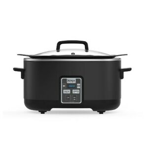 MC510 Ninja 6 Qt. Black Slow Cooker with Touchpad Controls and Keep Warm Setting