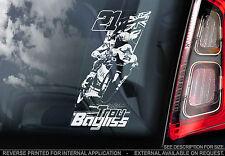 Troy Bayliss - Car Window Sticker - Australia Superbike Motorcycle MotoGP BSB