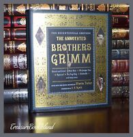 Annotated Brothers Grimm Fairy Tales New Illustrated Collectible Large Hardcover