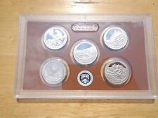 2011-S US PROOF SILVER STATE QUARTERS 5 CAMEO COINS #af
