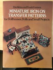 Vintage Weiss-Fontana Miniature Iron-on Transfer Patterns 1979