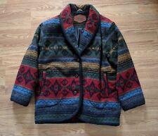 Woolrich Vintage Coat Men's Medium Aztec Inspired Print Multi-Color Jacket