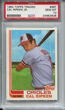 1982 Topps Traded Baseball #98T Cal Ripken Rookie Card RC PSA 10