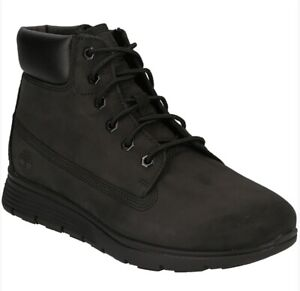 Timberland Killington 6 inch Nubuk Black Leather Chukka Boots Junior Boys A19YC