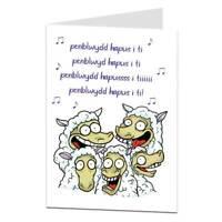 Funny Welsh Birthday Card Penblwydd hapus i ti