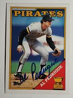 1988 Topps Al Pedrique Auto Autograph Card Pirates Signed #294