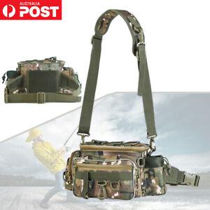 Fishing Bag Outdoor Single Shoulder Fishing Waist Pack Bag Lures Reels Storage
