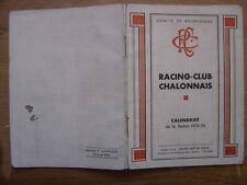saison 1935 PROGRAMME Calendrier Rugby CHALON sur SAONE 1936 sport