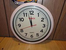 """Timex Battery Operated Wall Clock 12"""" Diameter Quartz Looks Good, Works Great"""