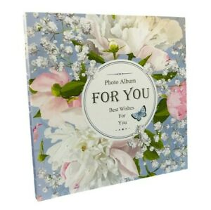 Large Self Adhesive Photo Album Hold Various Size Picture Up to A4 Flower Design
