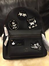NWT coach Mickey Multipatch Leather Backpack