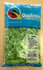 "Qualatex 5"" Round Green Space Alien Balloons ~ 100 ct."