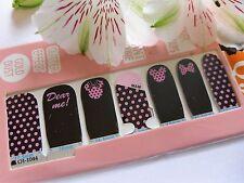 Arte en uñas Minnie Rosa arcos Spot Auto Adhesivo Pegatina Envolvente completa de esmalte de uñas 1044w