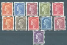 More details for luxembourg 1948-  grand duchess part set 11 values to 5f all mnh