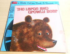 The Large and Growly Bear  A Little Golden Book & Record See Hear Read (1976)