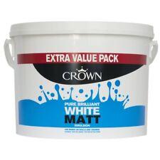 Crown Matt Emulsion Paint 7.5L Pure Brilliant White EXTRA VALUE