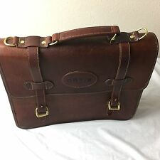 ORVIS / GOKEY Brown Saddle Leather Briefcase / Messenger Bag