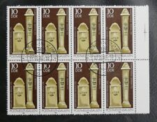 TIMBRES D'ALLEMAGNE : DDR 1984 MICHEL N° 2853 VARIETES 1 + 2 SE TENANT RARE TBE