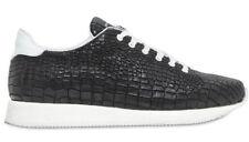 Kris Van Assche Size 41 Black Crocodile Effect Sneakers
