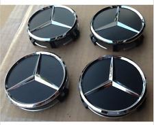 75mm Center Hubcap Hub Cap Caps Wheel Cover for Mercedes Benz 4x Black