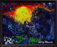 Skull Island King Kong Poster Canvas Print VanG Starry Night Wall Decor Art A067