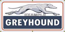 GREYHOUND BUS LINE TERMINAL DEPOT OLD SCHOOL SIGN REMAKE BANNER GARAGE ART 2 X 4