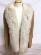 Jaywein Women's Camel Hair Fox Fur Collar Coat Jacket