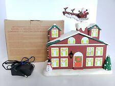 Avon Animated Musical Countdown To Christmas Calendar Advent House Santa RARE
