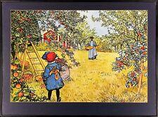 "Carl Larsson Print: ""The Apple Harvest"""