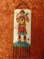 Cloisonné Esmalte en Cobre - Rusia 1987 Violinenspieler Recuerdo - Vintage