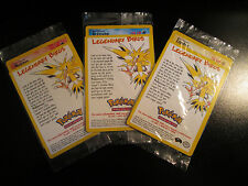 Sealed COMPLETE Pokemon MOLTRES ARTICUNO ZAPDOS Black Star PROMO Card 21 22 23