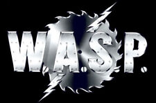 W.A.S.P Logo Saw Blade '80's Metal Crimson Idol Sticker or Magnet