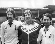 Tottenham Hotspur's Ossie Ardiles Ricky Villa Keith Burkinshaw 10x8 Photo