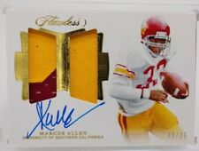 2018 Flawless Marcus Allen Dual Patch Auto 9 /25 USC On Card