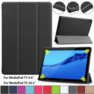 "For Huawei MediaPad T3 10 9.6"" & T5 10.1"" Tablet Smart Leather Stand Case Cover"