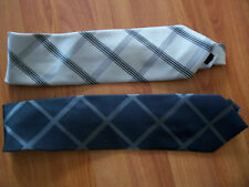 2 patterned polyester ties from George